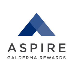 Galderma Aspire Rewards logo for Dysport rewards and specials