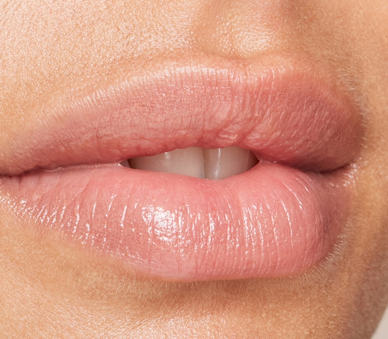 Close-up of a woman's lips that are soft and full