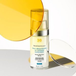 SkinCeuticals Daily Brightening UV Defense Sunscreen, an SPF 30 broad spectrum sunscreen for daily use.